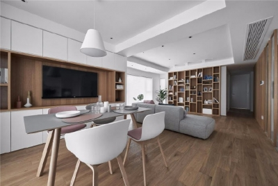 110㎡原木色的日式小清新三居室设计