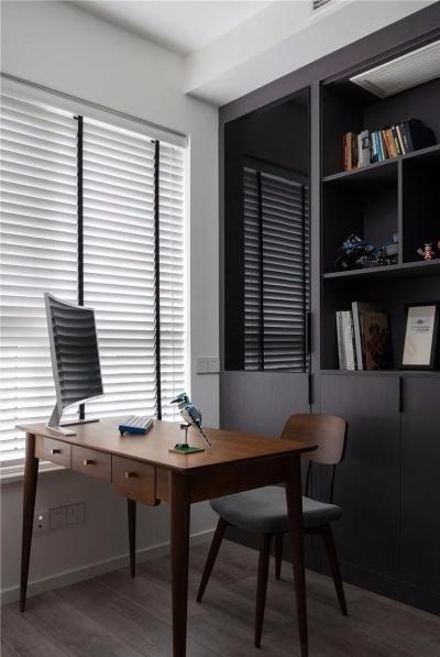 103平现代住宅,入户鞋柜实用大气,客餐厅彰显复古品质生活!