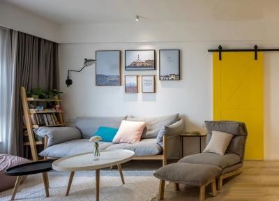 110平三室两厅北欧原木风