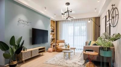 120平北欧三居室,客厅温暖极了,好有生活气息,真喜欢!
