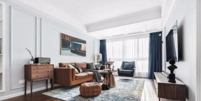 110平三居室,复古文艺范的装修,高级感十足,主卫改衣帽间,挺实用!