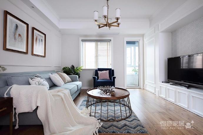 100㎡简约美式风格两居室设计