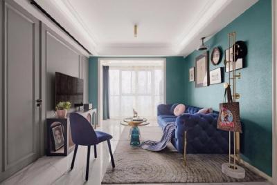 88㎡现代 法式3室2厅设计