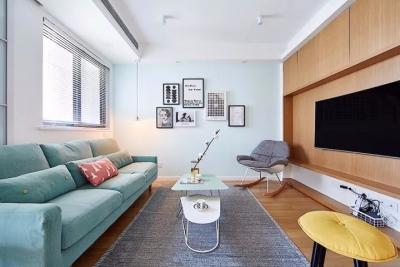89㎡北欧风格三居室,简洁清新收纳好,客餐厅采光好超赞!