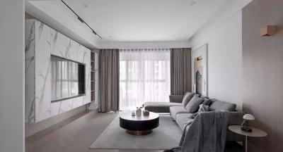 105㎡现代主义3室2厅,简约不乏精致的生活格调