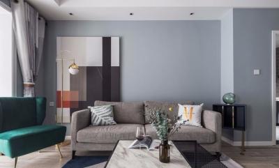 80㎡舒适北欧2室2厅,卡座餐厅颜值与实力并存!