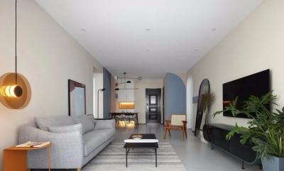 80平简约风格,全屋简洁舒适,卧室门设计好出彩!