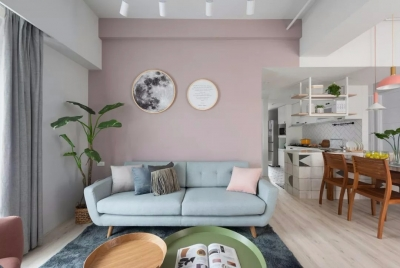 89㎡舒适北欧2室2厅,轻盈柔和的暖心之家