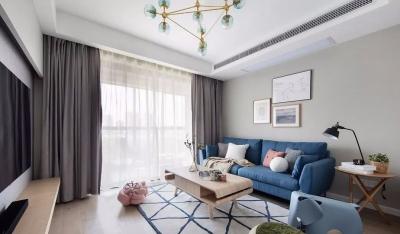 90㎡舒适北欧3室2厅,轻松而美好的惬意生活