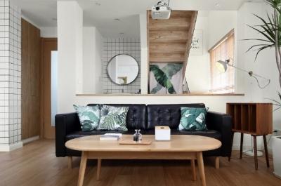 原木风复式住宅