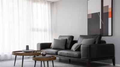 115㎡现代主义3室2厅,简约黑白灰彰显品质生活