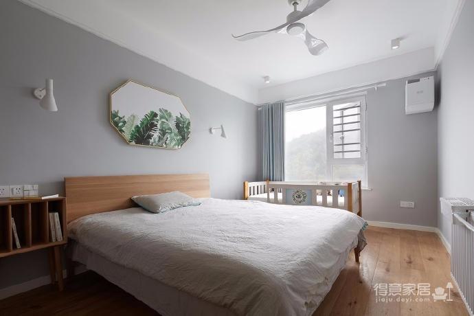 128平米四室两厅北欧风,原木色为底,辅以灰色与白色,空间通透自然图_4