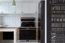 128平米四室两厅北欧风,原木色为底,辅以灰色与白色,空间通透自然图_7