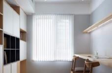 128平米四室两厅北欧风,原木色为底,辅以灰色与白色,空间通透自然图_9