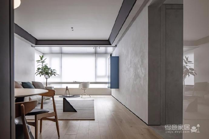 125㎡现代风格装修,这个设计空间的光影层次更丰富,白色能呈现出最自然纯粹的本质还不错图_1