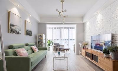 80㎡舒适北欧2室2厅,营造清新舒缓的生活格调