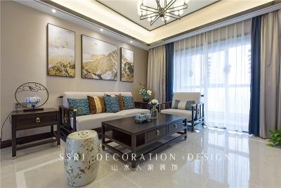 140平三室两厅广电兰亭时代中式