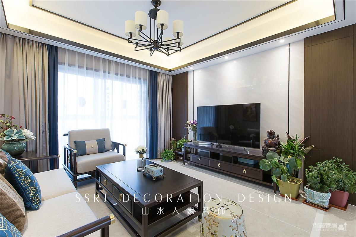 140平三室两厅广电兰亭时代中式图_9