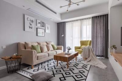 90㎡清新北欧2室2厅,打造柔和舒适的气质美家