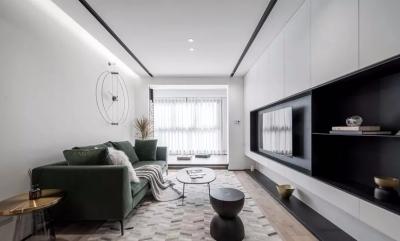 89㎡简约北欧3室2厅,电视背景墙实用性逆天!