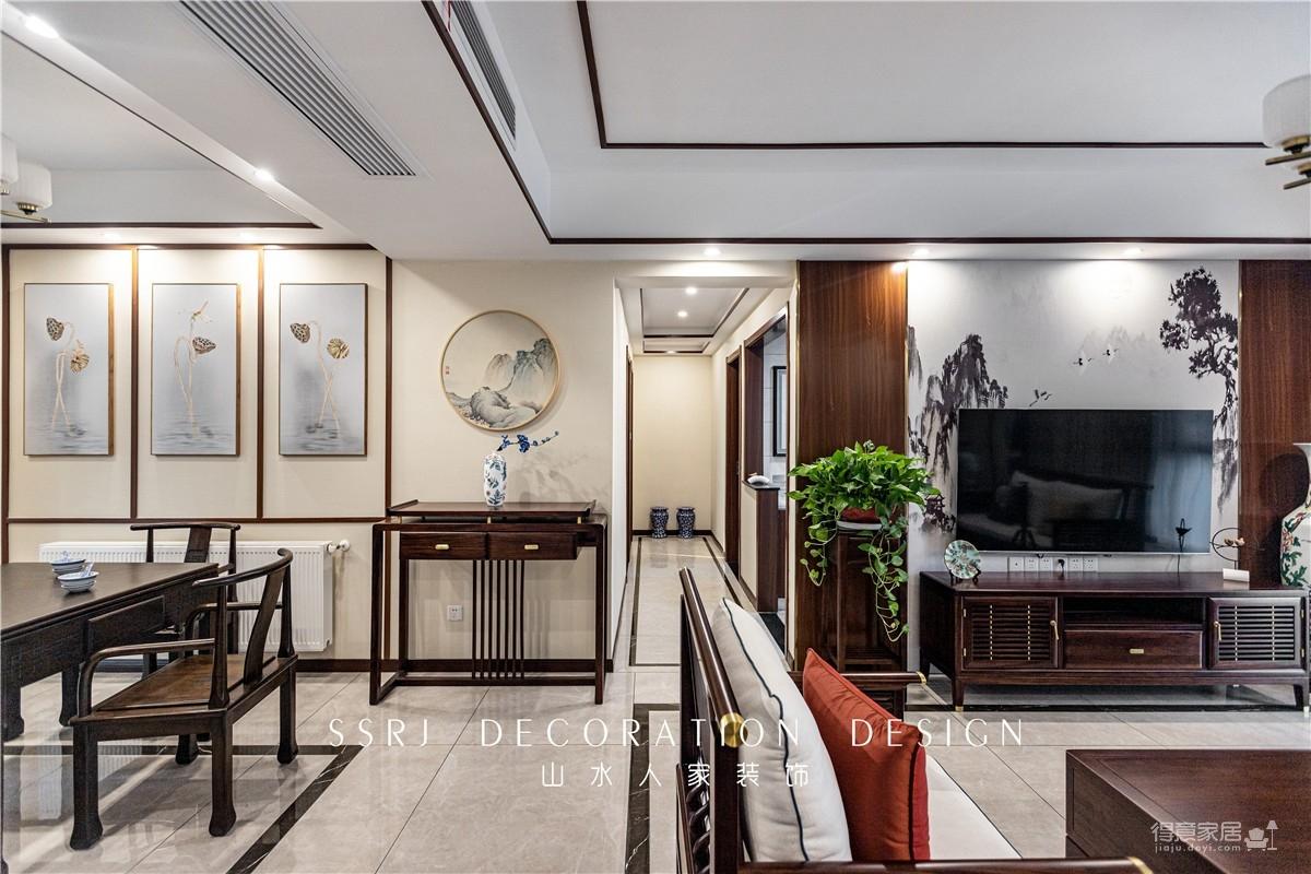 120平锦绣龙城3室2厅新中式