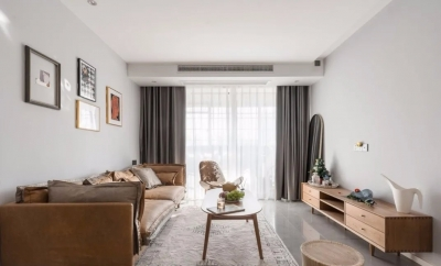 86平原木北欧两居,舒适与美观并存,卫生间、厨房虽小却实用!