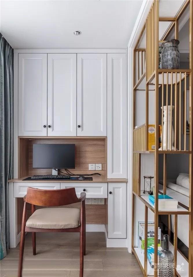 超有格调的100平北欧3居,走廊做收纳,阳台装书房,效果还棒极了!