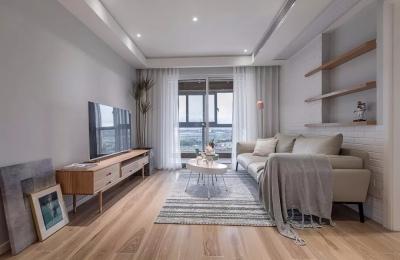 85平文艺北欧,壁龛式沙发墙创意十足,厨房黑框玻璃门,实用值得借鉴!