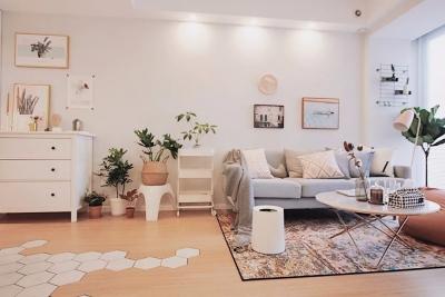 70㎡清新北欧2室2厅,生活就是简单随性