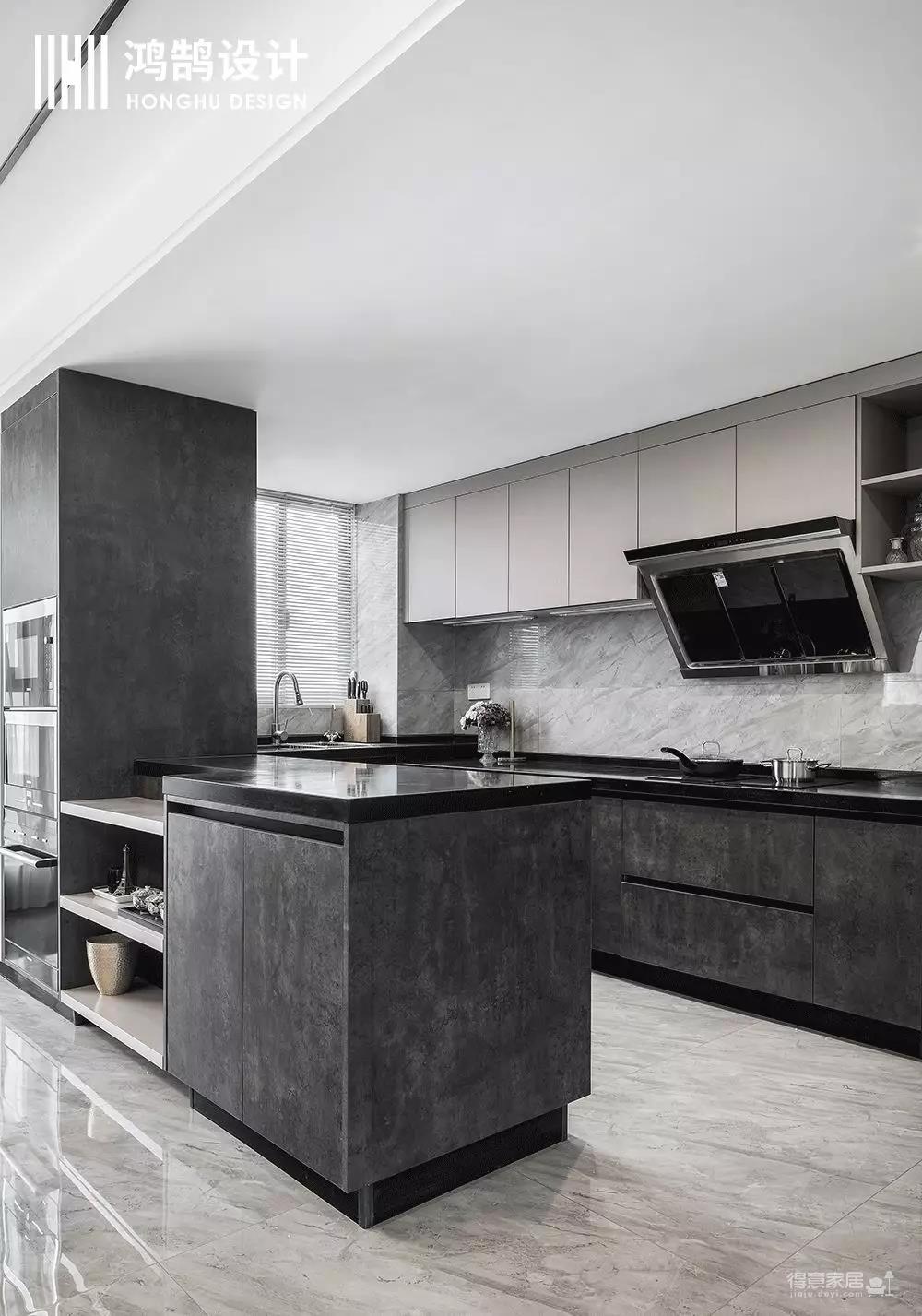 酷黑遇上暖粉,既是家也是烘焙室,230㎡复式小楼惹人羡!图_12
