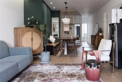 卧室的门,卧室的琴为这套北欧基调的小三居增添了一丝中式风的美