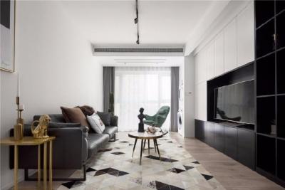 经典黑白配极简主义两居室设计