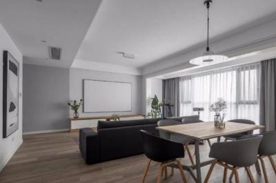 设计师选择使用黑白色为主色调,简化房屋复杂的设计,表达出简约而不失格调的家