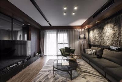 业主喜欢质感强、色系干净的整体空间感受。设计师首推而又正中业主下怀的台式风格,便是用大自然最朴素的质感去打造整体空间