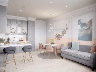 80㎡现代轻奢,精致小公寓,浪漫粉色布置,充满高级与华丽气质