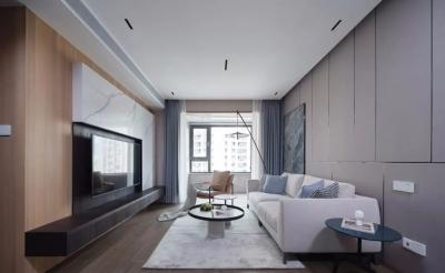 89㎡现代简约两居室,电视墙、卧室背景墙个性极了,全屋敞亮舒适