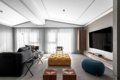 180平四室两厅现代混搭风
