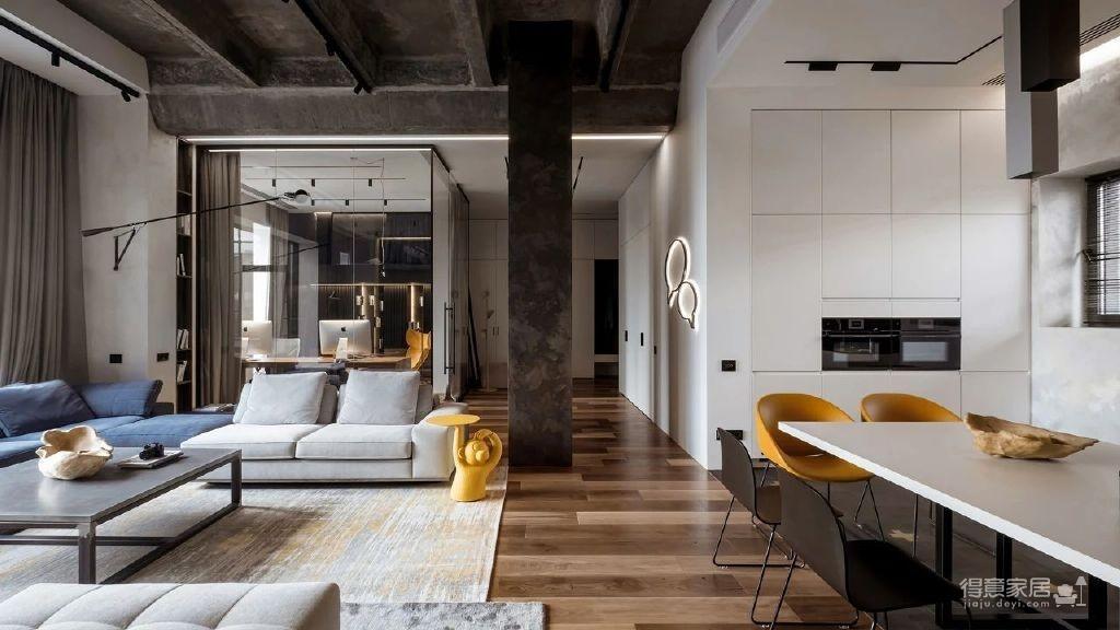 三间小公寓拼凑而成的136平大宅,时髦得不像话图_2