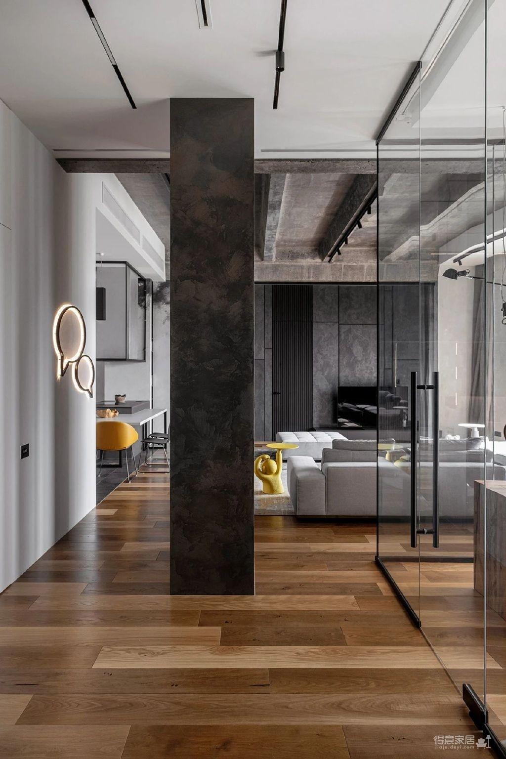 三间小公寓拼凑而成的136平大宅,时髦得不像话图_4