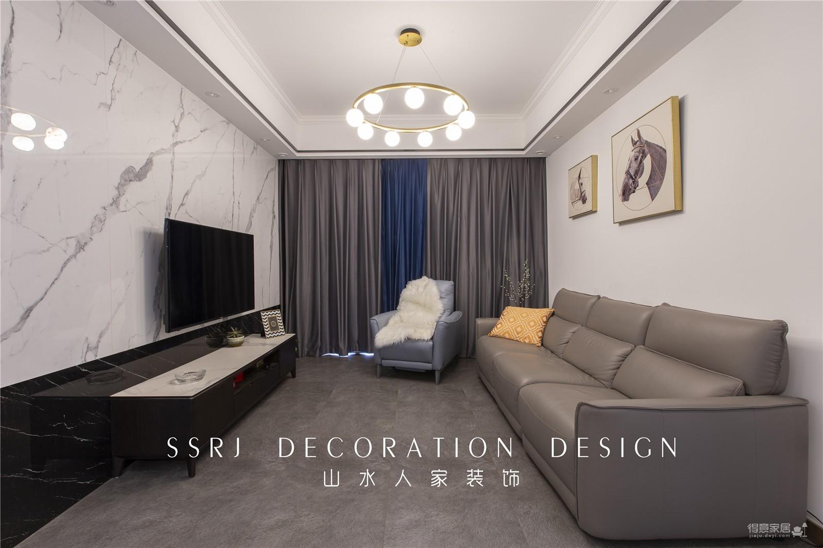 【沙湖怡景】103平三室两厅现代风图_1