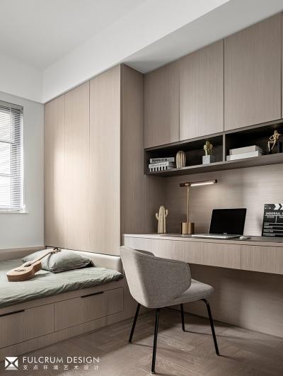 100㎡灰调质感三房,小空间也可以有大延展