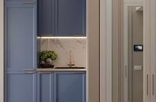 36㎡单身公寓   蓝色的唯美与浪漫图_2