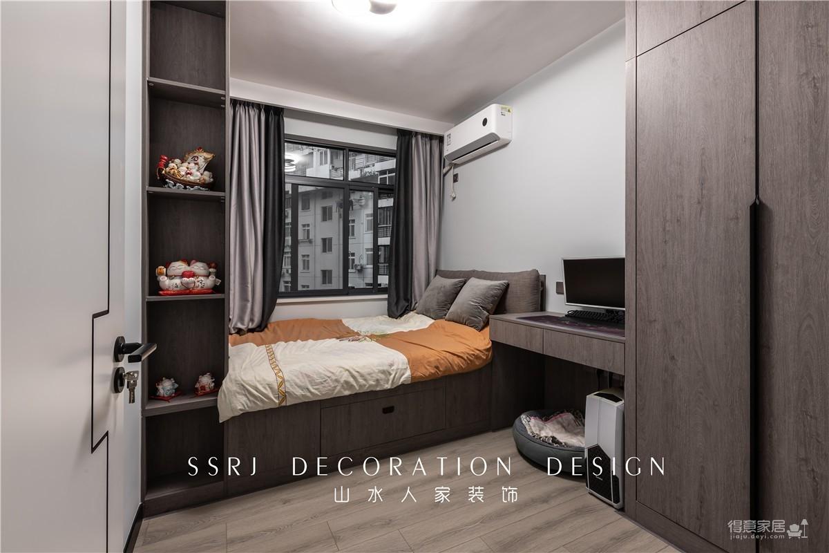 98平异形空间打造两室现代风