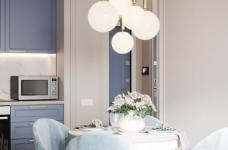 36㎡单身公寓   蓝色的唯美与浪漫图_7