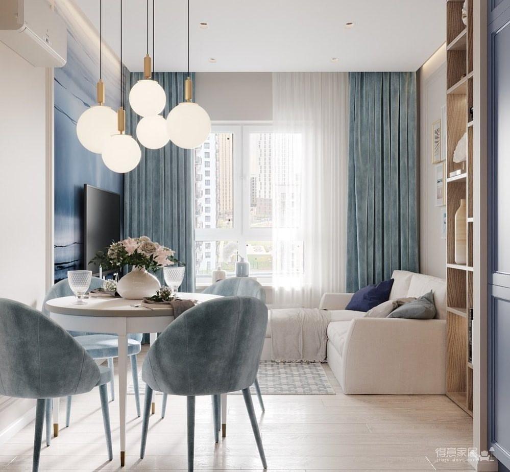 36㎡单身公寓   蓝色的唯美与浪漫图_8