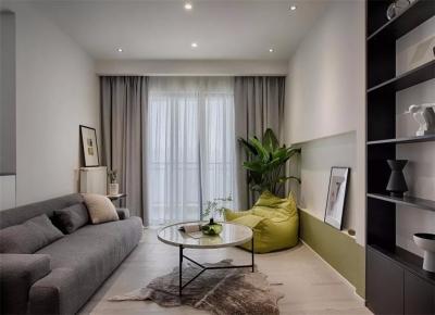 85平的简约风二居室,半墙隔断带来更好采光