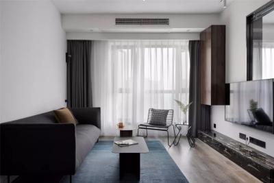 玻璃屏风简洁实用,客厅不做吊顶,透明玻璃书房正流行!
