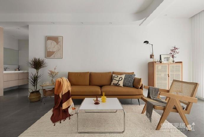 木白为主,暖橙点缀,灰色打底,整体空间给人静谧温馨的感觉图_2