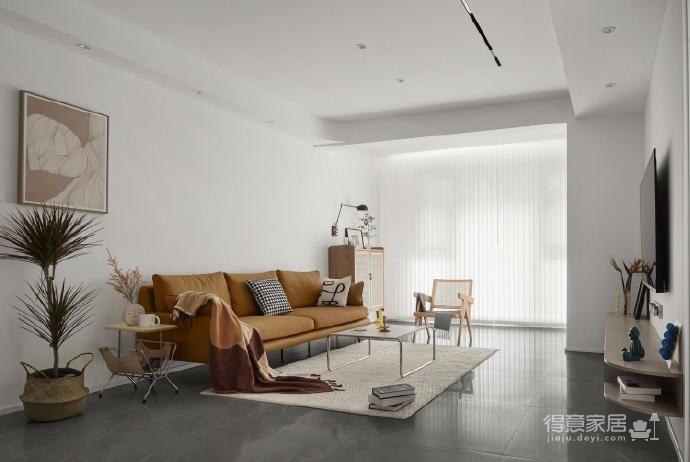 木白为主,暖橙点缀,灰色打底,整体空间给人静谧温馨的感觉图_1