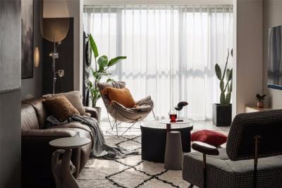 83平北欧混搭风格装修,整体呈现的十分温馨,宽敞和舒适